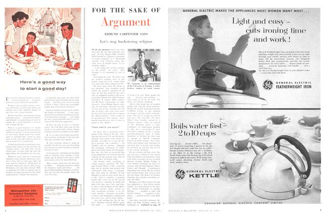 Article Preview: FOR THE SAKE OF Argument, August 1956 | Maclean's