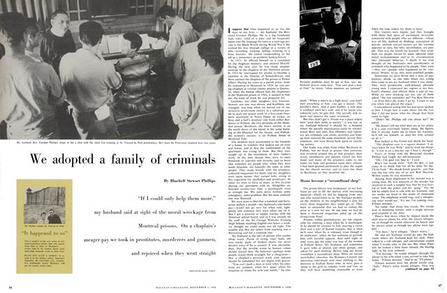 Article Preview: We adopted a family of criminals, September 1956 | Maclean's