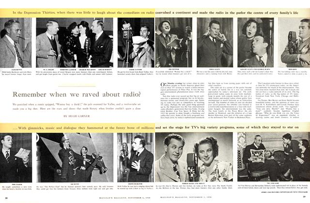 Article Preview: Remember when we raved about radio?, September 1956 | Maclean's
