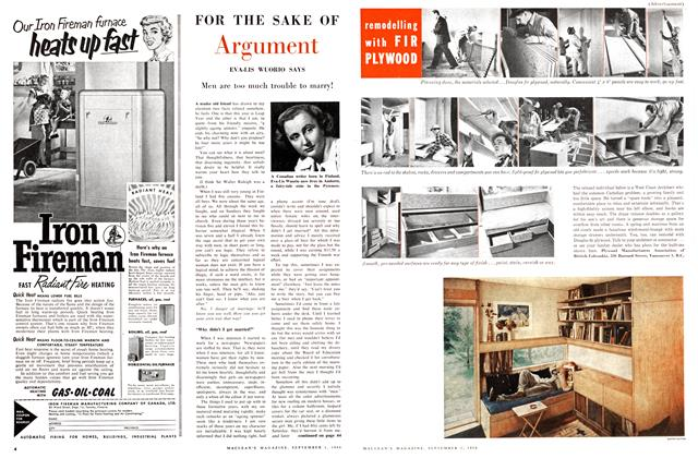 Article Preview: FOR THE SAKE OF Argument, September 1956 | Maclean's