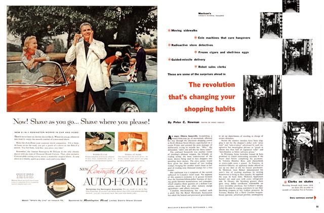 Article Preview: The revolution that's changing your shopping habits, September 1956 | Maclean's