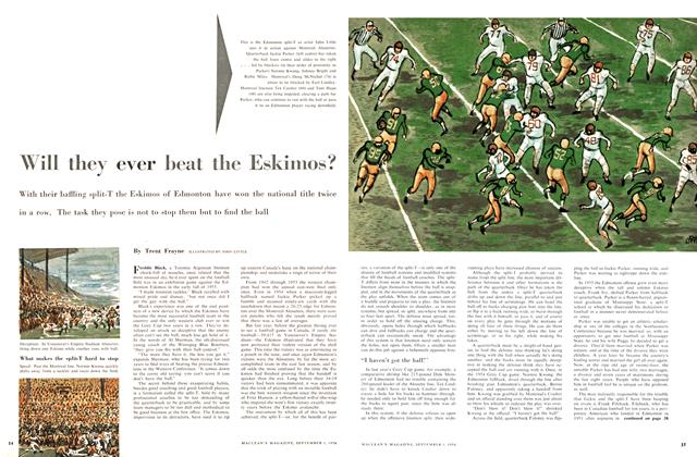 Article Preview: Will they ever beat the Eskimos?, September 1956 | Maclean's