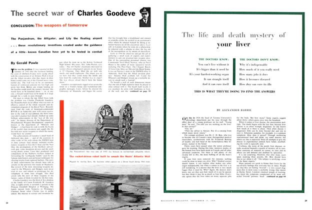 Article Preview: The secret war of Charles Goodeve, September 1956 | Maclean's