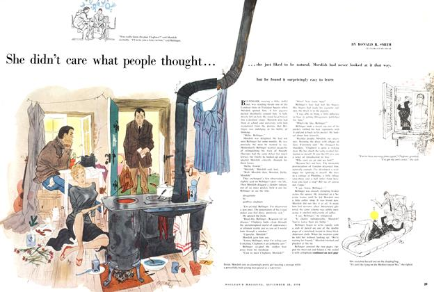 Article Preview: She didn't care what people thought..., September 1956 | Maclean's