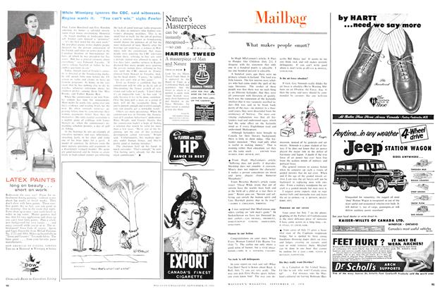 Article Preview: Mailbag, September 1956 | Maclean's