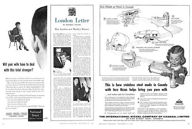 Article Preview: London Letter, September 1956 | Maclean's