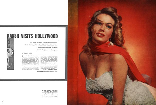 Article Preview: KARSH VISITS HOLLYWOOD, September 1956 | Maclean's