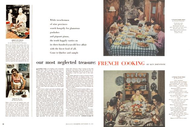 Article Preview: our most neglected treasure: FRENCH COOKING, September 1956 | Maclean's