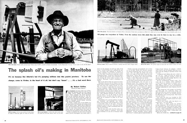 Article Preview: The splash oil's making in Manitoba, September 1956 | Maclean's