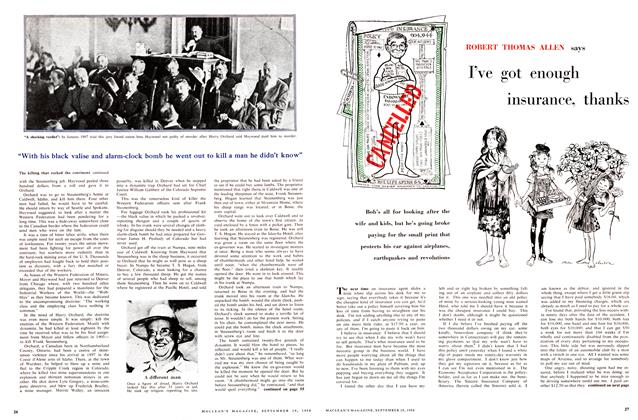 Article Preview: I've got enough insurance, thanks, September 1956 | Maclean's