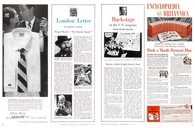 Article Preview: Backstage in the U. S. campaign, September 1956 | Maclean's