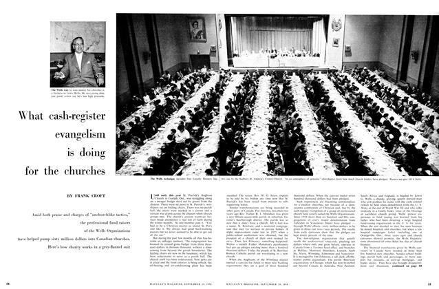 Article Preview: What cash-register evangelism is doing for the churches, September 1956 | Maclean's