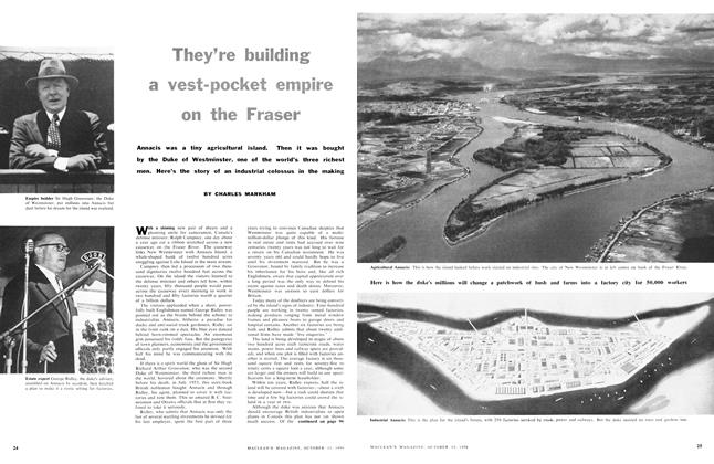 Article Preview: They're building a vest-pocket empire on the Fraser, October 1956 | Maclean's