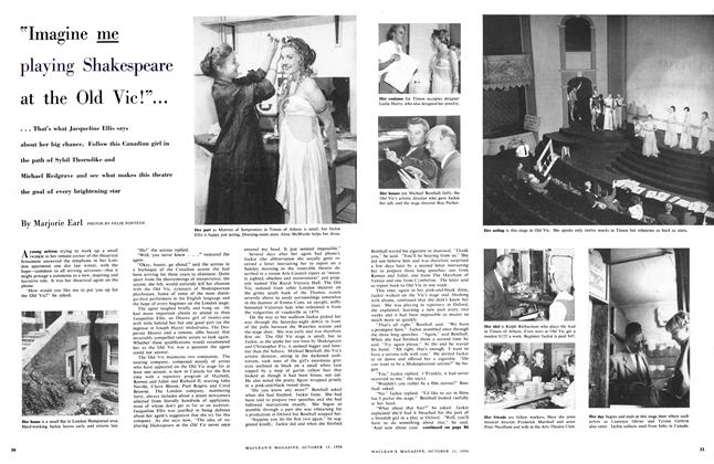"Article Preview: ""Imagine me playing Shakespeare at the Old Vic!""..., October 1956 