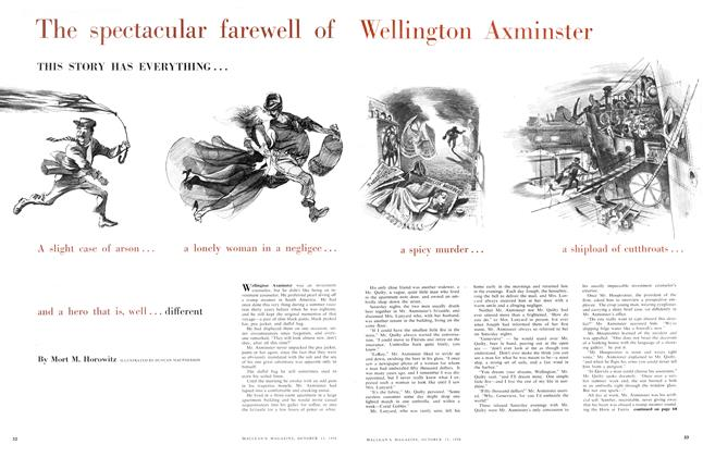 Article Preview: The spectacular farewell of Wellington Axminster, October 1956 | Maclean's