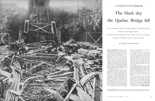 Article Preview: The black day the Quebec Bridge fell, October 1956 | Maclean's