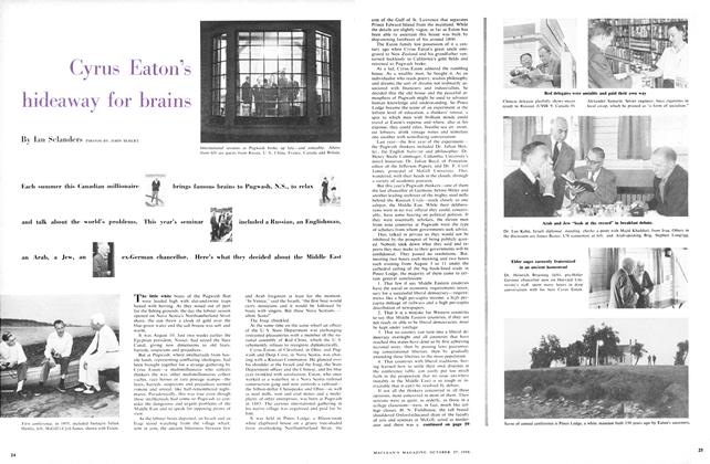 Article Preview: Cyrus Eaton's hideaway for brains, October 1956 | Maclean's