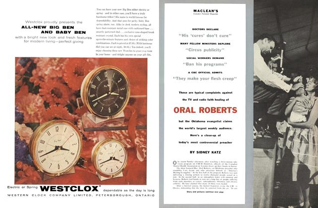 Article Preview: ORAL ROBERTS, October 1956 | Maclean's