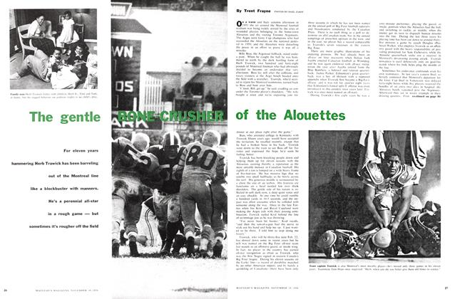 Article Preview: The gentle BONE-CRUSHER of the Alouettes, November 1956 | Maclean's