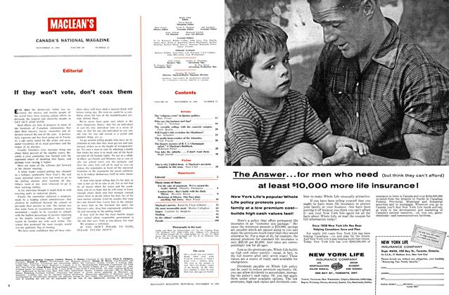 Article Preview: Editorial, November 1956 | Maclean's