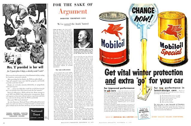 Article Preview: FOR THE SAKE OF Argument, November 1956   Maclean's