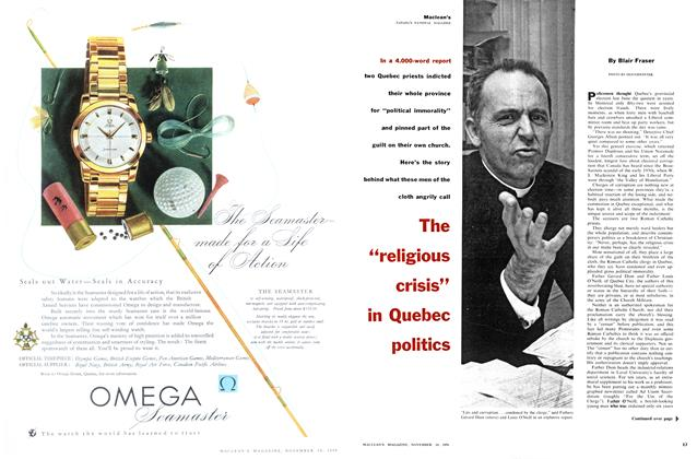 "Article Preview: The ""religious crisis in Quebec politics, November 1956 