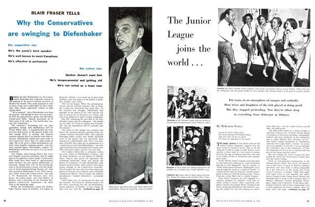 Article Preview: The Junior League joins the world ..., November 1956 | Maclean's