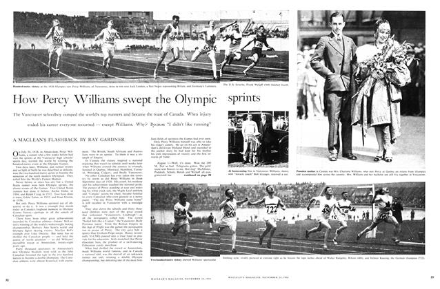 Article Preview: How Percy Williams swept the Olympic sprints, November 1956 | Maclean's
