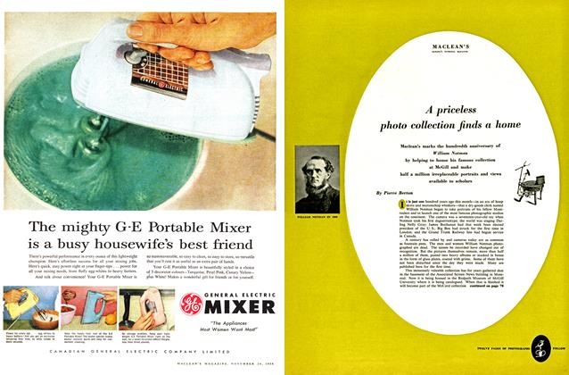 Article Preview: A priceless photo collection finds a home, November 1956 | Maclean's