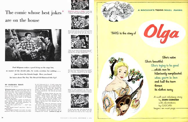 Article Preview: The comic whose best jokes ' are on the house, December 1956 | Maclean's