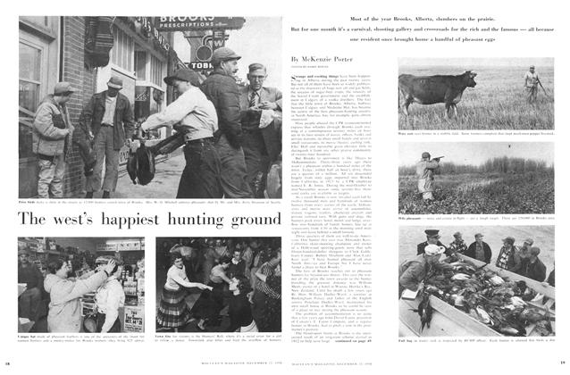 Article Preview: The west's happiest hunting ground, December 1956 | Maclean's