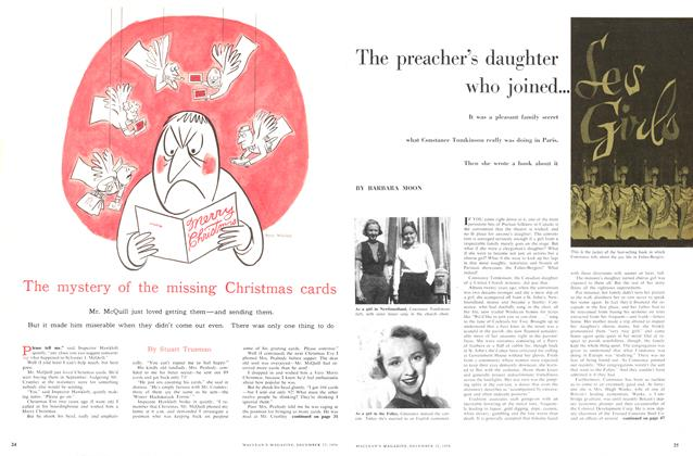 Article Preview: The mystery of the missing Christmas cards, December 1956 | Maclean's