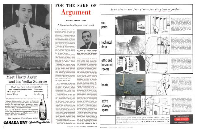 Article Preview: A Canadian health plan won't work, December 1956 | Maclean's