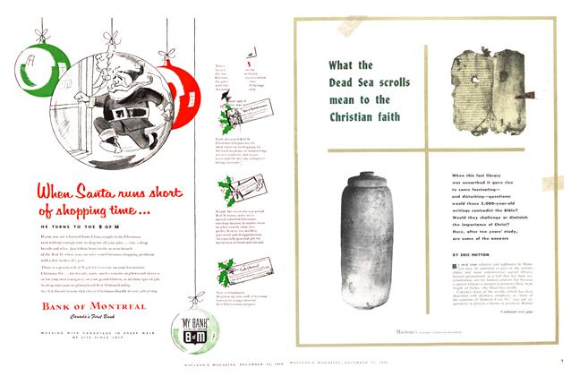 Article Preview: What the Dead Sea scrolls mean to the Christian faith, December 1956 | Maclean's