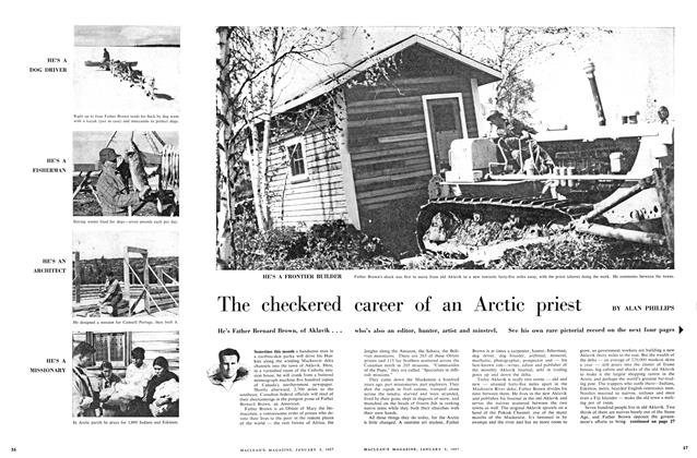 Article Preview: The checkered career of Arctic priest, January 1957 | Maclean's