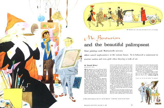 Article Preview: Mr. Benturian and the beautiful palimpsest, January 1957 | Maclean's