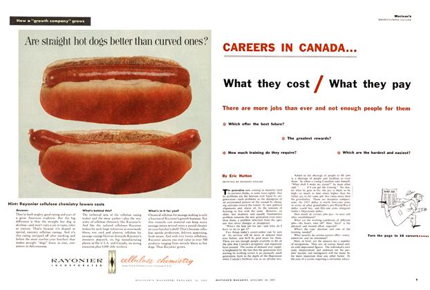 Article Preview: What they cost / What they pay, January 1957 | Maclean's