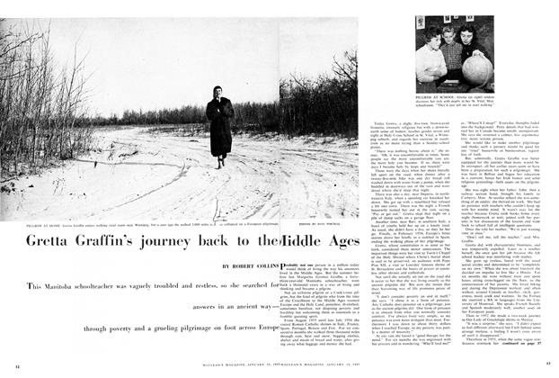 Article Preview: Gretta Graffin's journey back to the Middle Ages, January 1957 | Maclean's