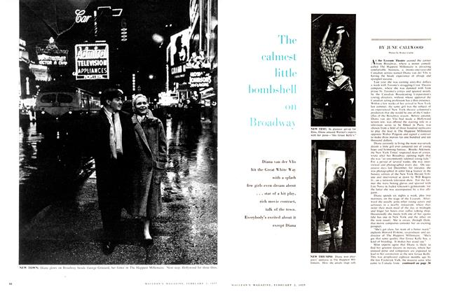 Article Preview: The calmest little bombshall on Broadway, February 1957 | Maclean's