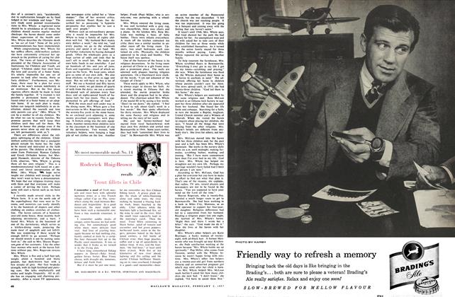 Article Preview: My most memorable meal: No. 14, February 1957 | Maclean's