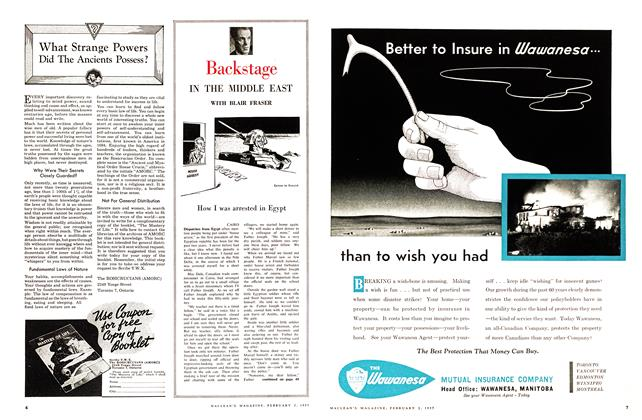 Article Preview: How I was arrested in Egypt, February 1957   Maclean's