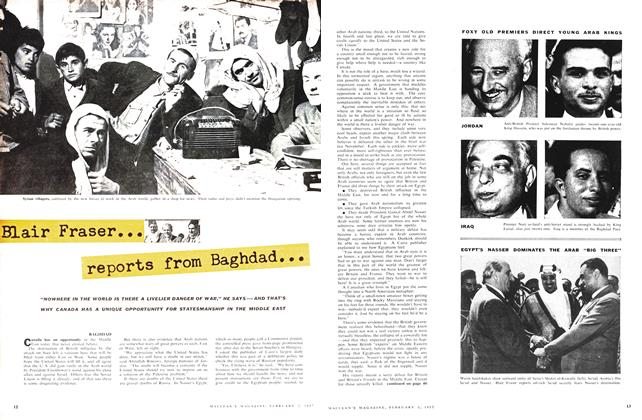 Article Preview: Blair Fraser reports from Baghded, February 1957 | Maclean's
