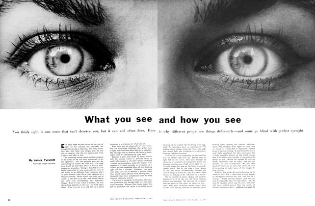 Article Preview: What you see and how you see, February 1957 | Maclean's