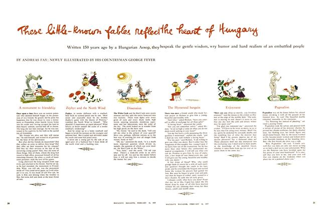 Article Preview: These little-known fables reflect the heart of Hungary, February 1957 | Maclean's