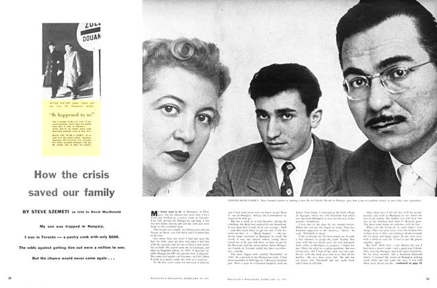 Article Preview: How the crisis saved our family, February 1957 | Maclean's