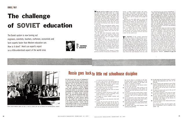 Article Preview: The challenge of SOVIET education, February 1957 | Maclean's