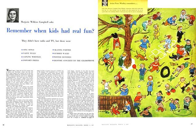 Article Preview: Remember when kids had real fun?, March 1957 | Maclean's