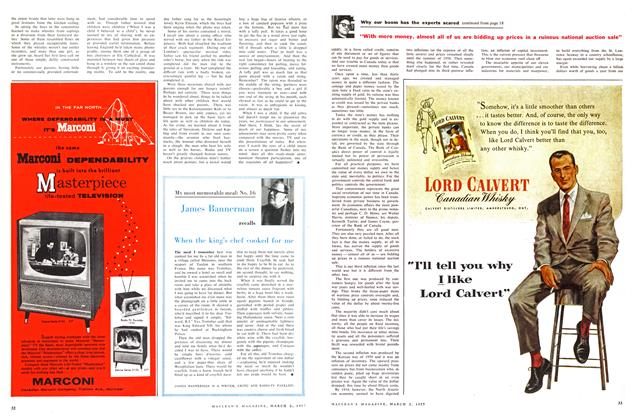 Article Preview: When the king's chef cooked for me, March 1957 | Maclean's