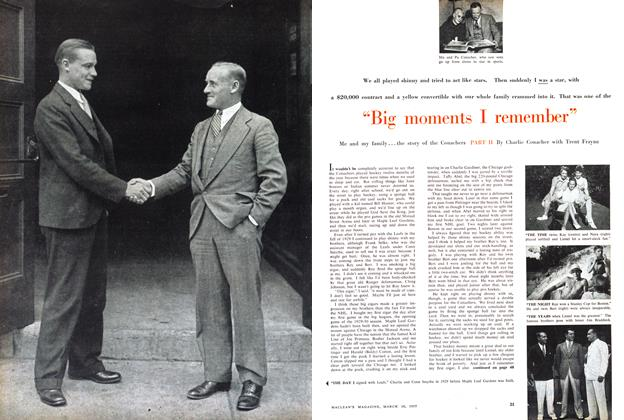 "Article Preview: ""Big moments I remember"", March 1957 