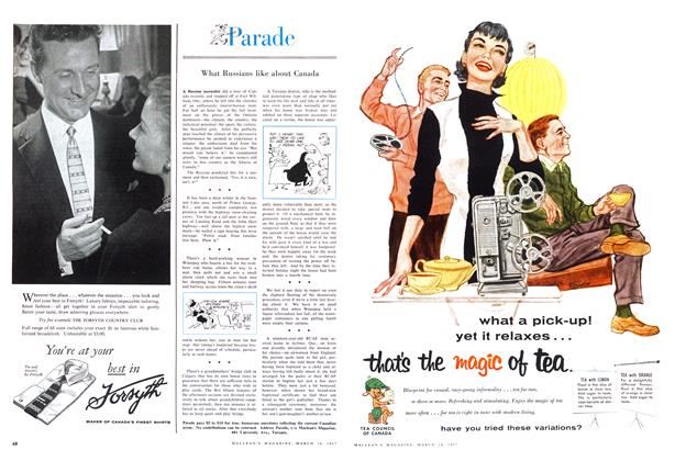 Article Preview: Parade, March 1957 | Maclean's